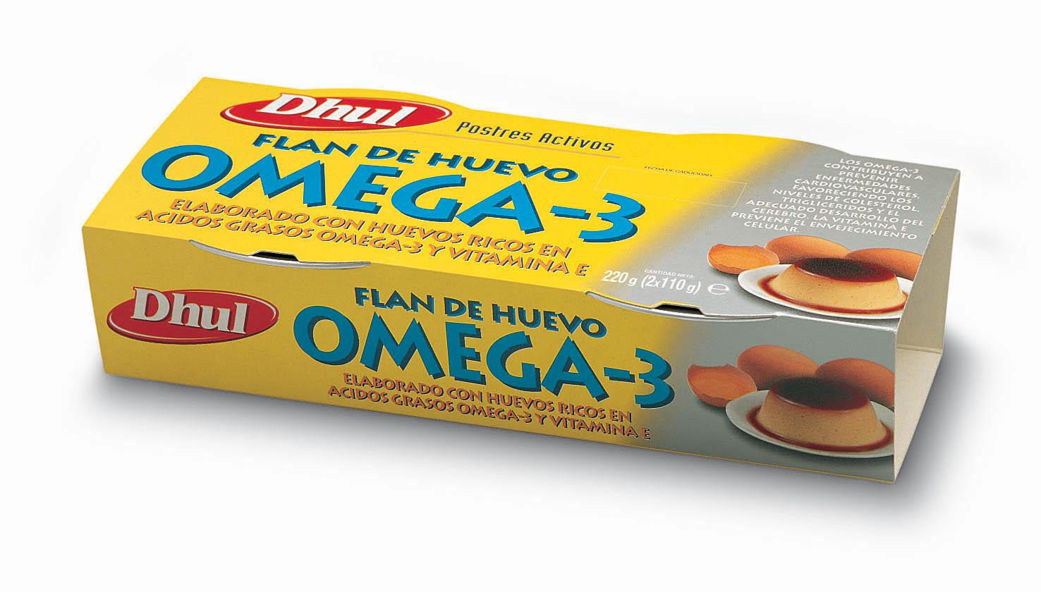 flan con omega 3